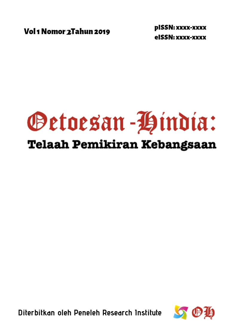 Cover Oetoesan-Hindia: Telaah Pemikiran Kebangsaan